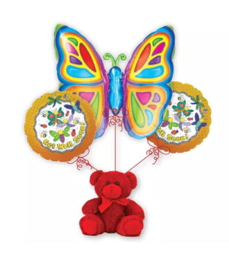 Get Well Butterfly Balloon Bouquet